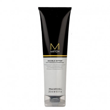 Paul Mitchell Mitch Double Hitter 2-in-1 Shampoo og Conditioner, 250 ml