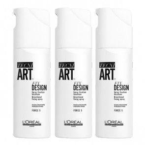 Loreal Tecni.art Fix Design Hairspray, 200 ml (3 pak.)