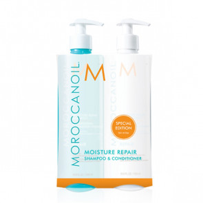 Moroccanoil Moisture Repair Shampoo og Conditioner, 2x500 ml